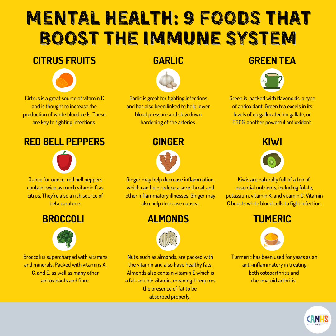 Mental Health: 9 Foods That Boost The Immune System