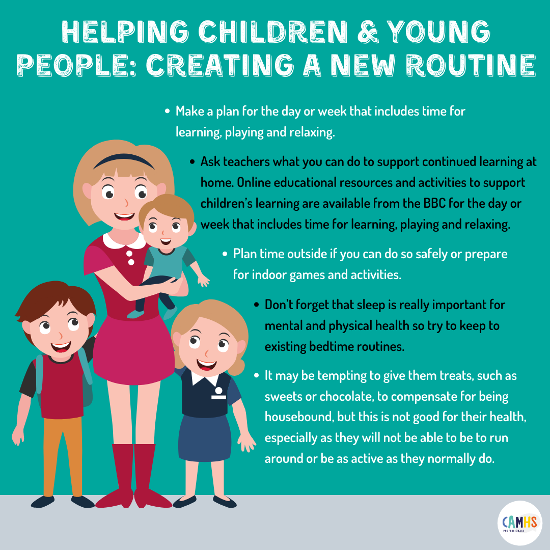 Helping Children & Young People: Creating A New Routine