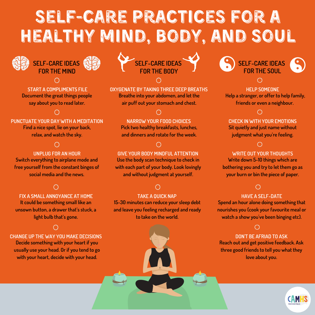 Self-Care Practices For A Healthy Mind, Body And Soul